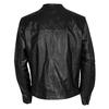 Pánska kožená bunda so štýlovým prešívaním bata, čierna, 974-6142 - 26