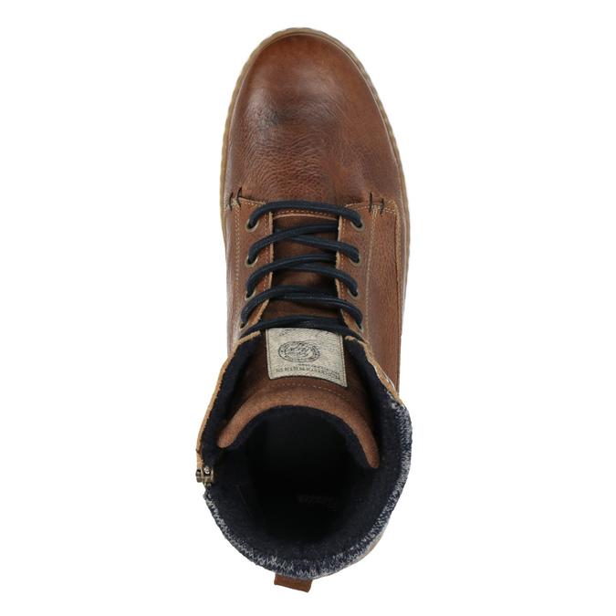 Pánske členkové tenisky bata, hnedá, 846-3615 - 19