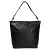 Kožená kabelka v Hobo štýle bata, čierna, 964-6216 - 26
