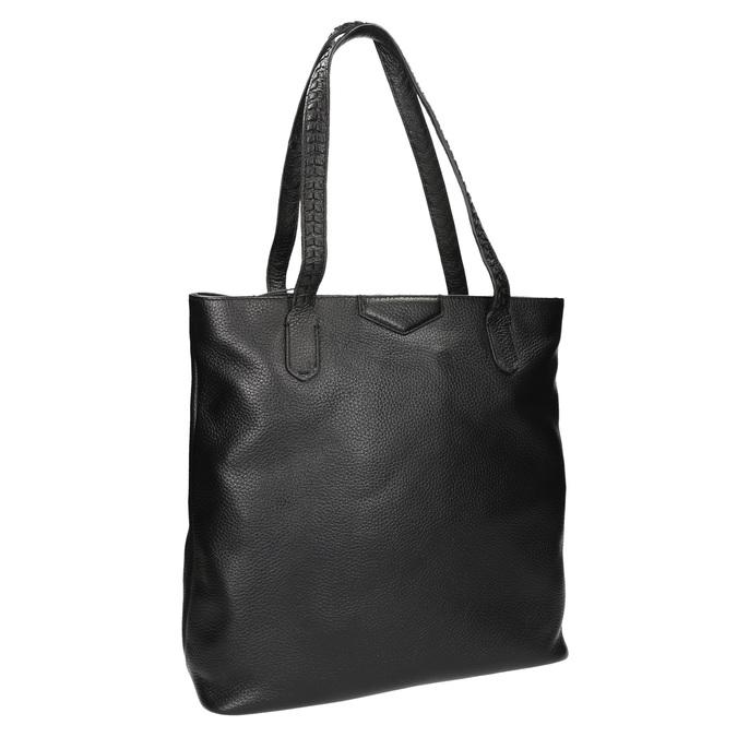 Čierna kožená kabelka bata, čierna, 964-6213 - 13