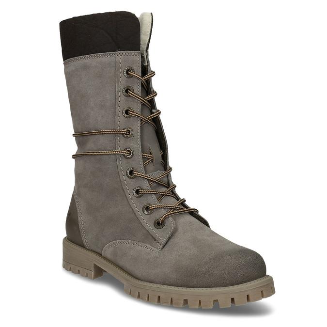 Dámska zimná obuv šnurovacia weinbrenner, šedá, 593-2476 - 13
