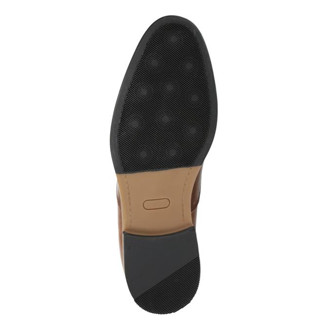 Hnedé kožené poltopánky bata, hnedá, 826-3735 - 26