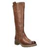 Hnedé kožené čižmy bata, hnedá, 594-4613 - 13
