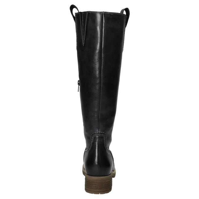 Kožené čižmy s masivnou podrážkou bata, čierna, 594-6613 - 17