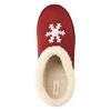 Domáce papuče s umelým kožúškom bata, červená, 579-5612 - 19