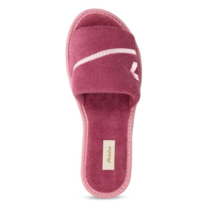 Dámske papuče s mašličkou bata, ružová, 579-5609 - 17