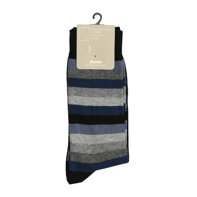 Pánske ponožky 2 páry bata, čierna, 919-6411 - 13