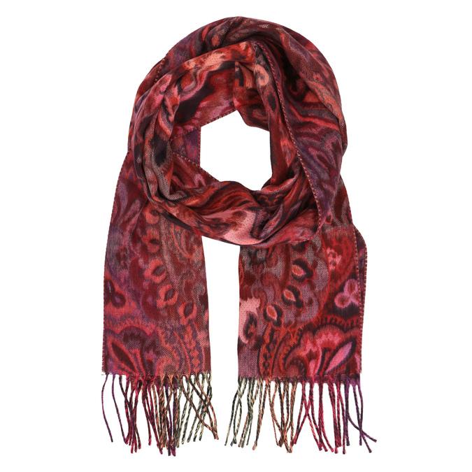Farebný šál so vzorom bata, červená, 909-2222 - 13