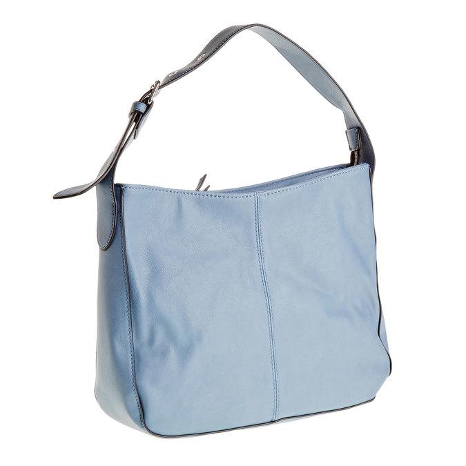 Kabelka s nastavitelným uškom bata, modrá, 961-9792 - 13