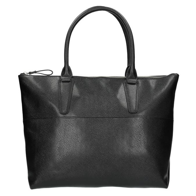Čierna kožená kabelka bata, čierna, 966-6201 - 19