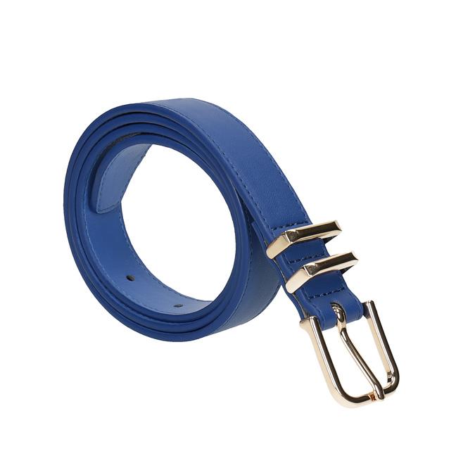 Modrý dámsky opasok bata, modrá, 951-9601 - 13