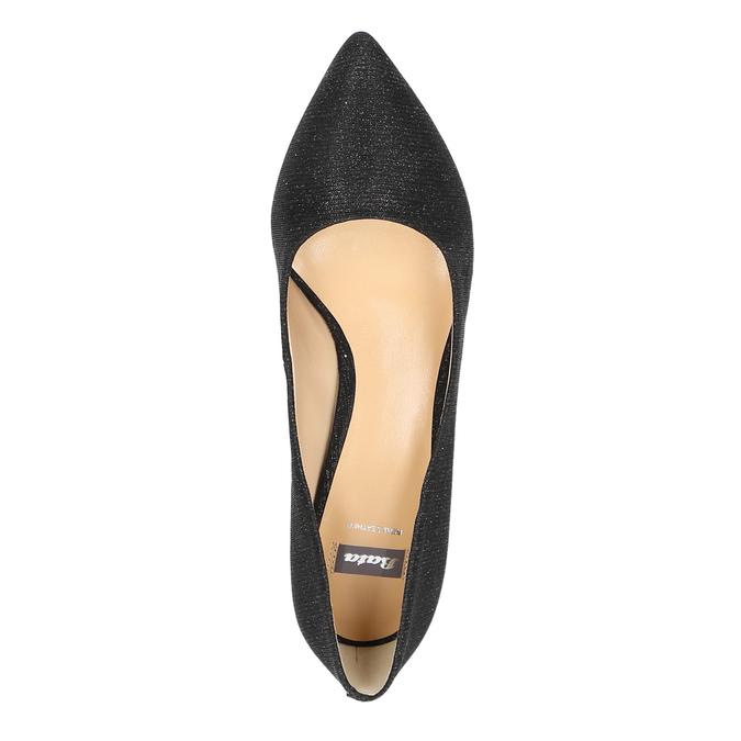Elegantné lodičky na nízkom podpätku bata, čierna, 629-6631 - 19