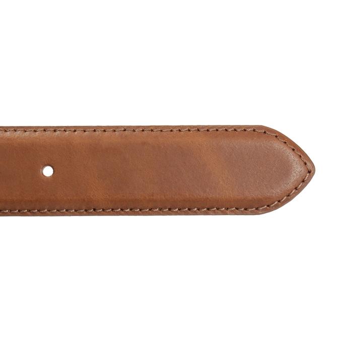 Hnedý pánsky kožený opasok bata, hnedá, 954-4153 - 16
