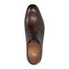 Hnedé kožené poltopánky bata, hnedá, 824-4754 - 19