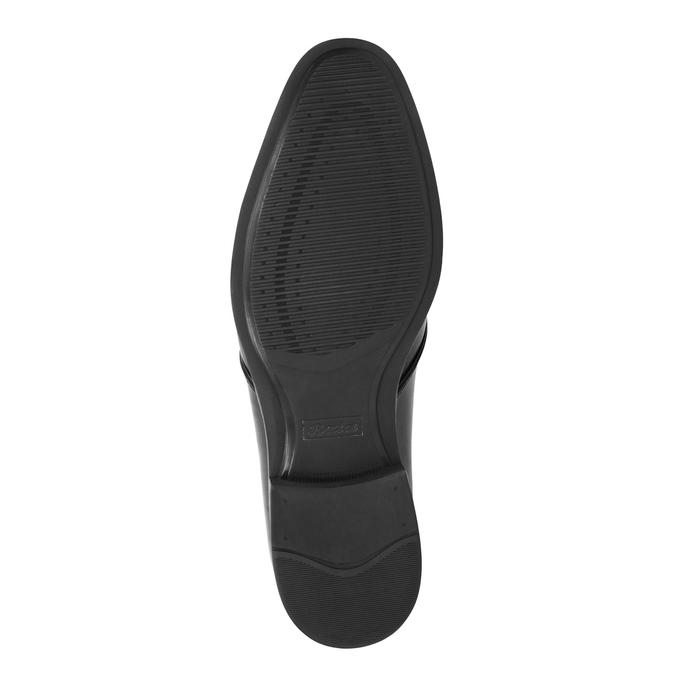 Čierne kožené poltopánky bata, čierna, 824-6754 - 26