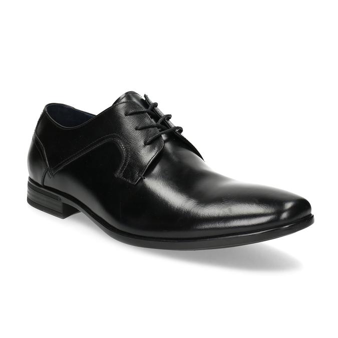 Kožené čierne pánske poltopánky bata, čierna, 824-6758 - 13