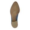 Kožené členkové čižmy s perforáciou bata, modrá, 596-9647 - 26