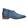 Kožené členkové čižmy s perforáciou bata, modrá, 596-9647 - 15