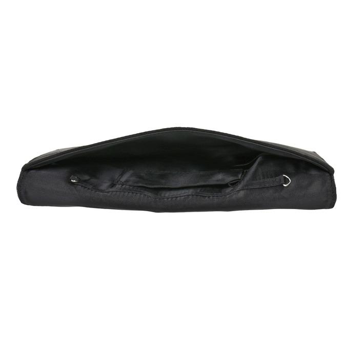Listová kabelka so striebornou retiazkou bata, čierna, 969-6644 - 15
