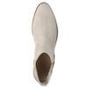 Kožené členkové čižmy s pružnými bokmi bata, šedá, 596-2652 - 19