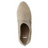 Členkové čižmy s perforáciou bata, béžová, 729-8603 - 19