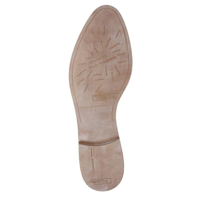 Kožené Chelsea topánky s perforáciou bata, biela, 596-1651 - 26