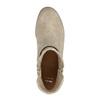 Jarné členkové čižmy s perforáciou bata, béžová, 691-8632 - 19