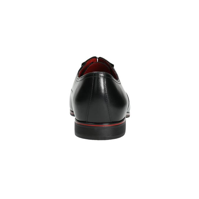 Čierne kožené Oxford poltopánky conhpol, čierna, 824-6868 - 17