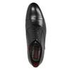 Čierne kožené Oxford poltopánky conhpol, čierna, 824-6868 - 19