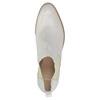 Kožené Chelsea topánky s perforáciou bata, biela, 596-1651 - 19