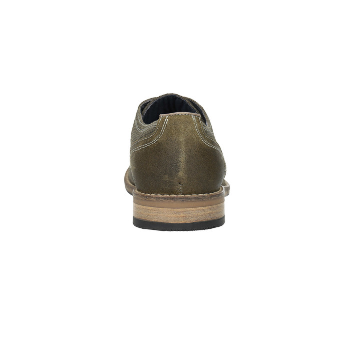 Ležérne pánske poltopánky v imitácii hadej kože bata, hnedá, 826-3734 - 17