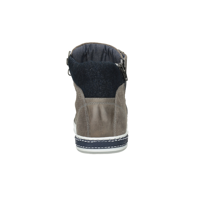 Kožené členkové tenisky bata, hnedá, 844-2632 - 17