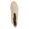 Dámske členkové čižmy bata, béžová, 599-8614 - 19