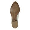 Kožené členkové čižmy s perforáciou bata, biela, 596-1647 - 26