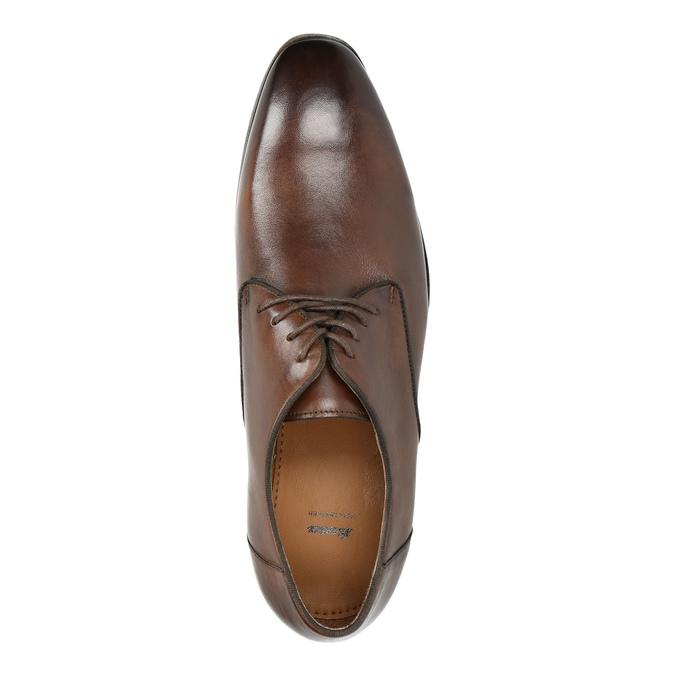 Hnedé kožené poltopánky bata, hnedá, 826-4796 - 19