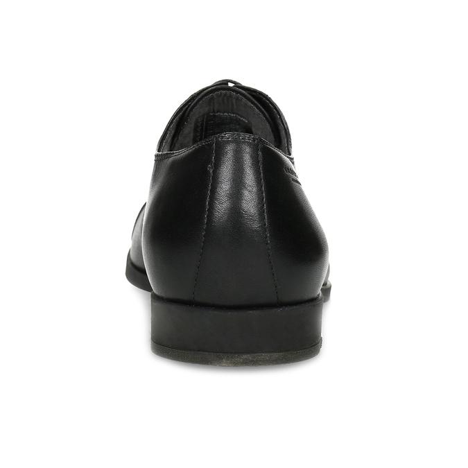 Čierne kožené Oxford poltopánky vagabond, čierna, 824-6048 - 15