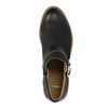 Kožená členková obuv so sponou bata, čierna, 596-6634 - 19