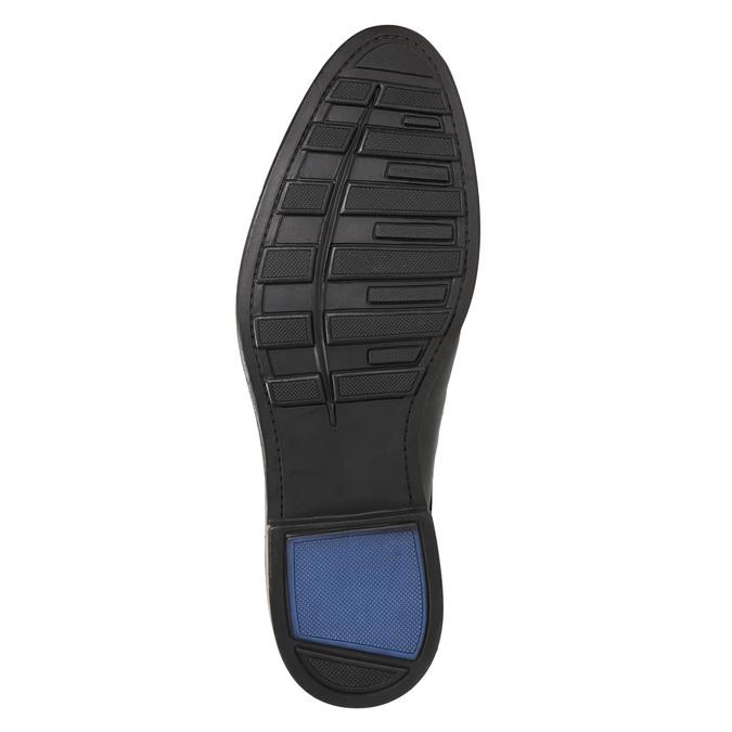 Pánske kožené poltopánky čierne bata, čierna, 824-6800 - 26