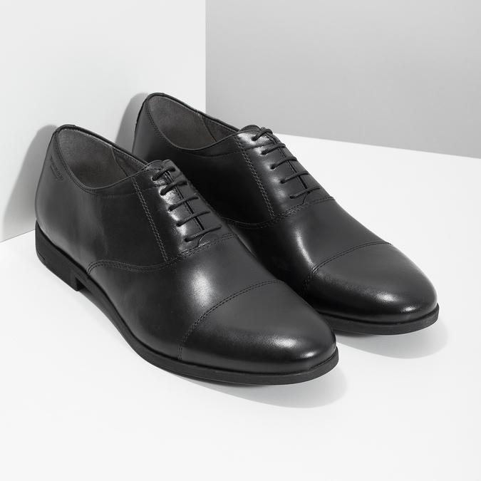 Čierne kožené Oxford poltopánky vagabond, čierna, 824-6048 - 26