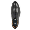 Pánske kožené poltopánky čierne bata, čierna, 824-6800 - 19