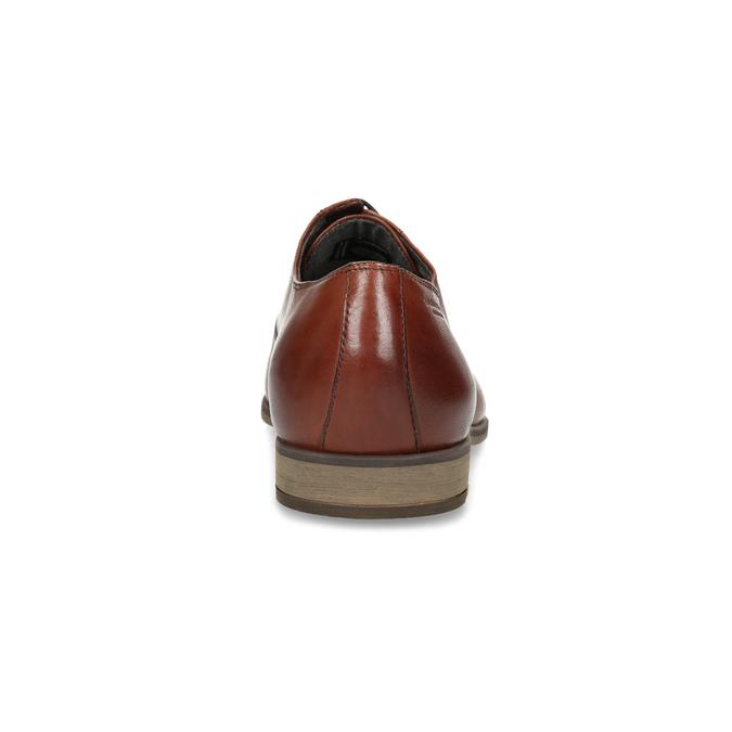 Hnedé pánske oxfordky z kože vagabond, hnedá, 824-3048 - 15