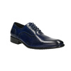 Modré kožené Oxford poltopánky bata, modrá, 826-9822 - 13