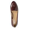 Lakované dámske Loafers bata, červená, 518-5600 - 19