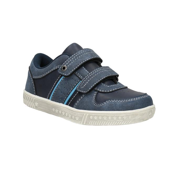 Detské tenisky s prešitím mini-b, modrá, 411-9604 - 13