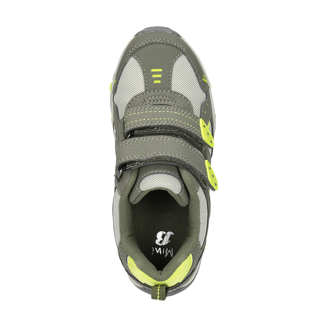 Športové detské tenisky mini-b, zelená, 411-7605 - 19