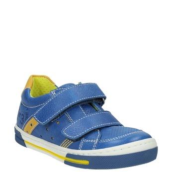 Detské kožené tenisky mini-b, modrá, 214-9600 - 13