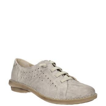 Ležérne kožené poltopánky bata, šedá, 526-2624 - 13
