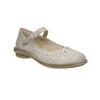 Kožené baleríny s remienkom cez priehlavok bata, béžová, 526-2622 - 13
