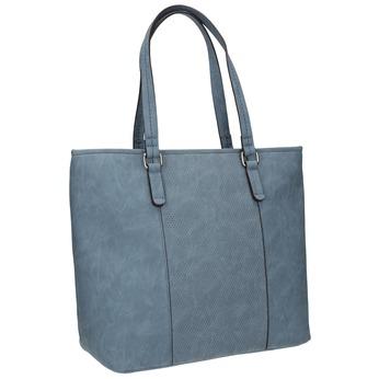 Modrá kabelka s perforovaným detailom bata, modrá, 961-9711 - 13