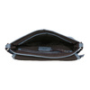 Crossbody kabelka s perforovanou klopou bata, modrá, 961-9709 - 15
